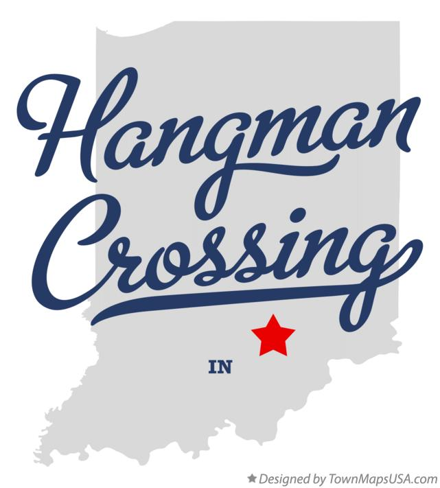 Map of Hangman Crossing Indiana IN