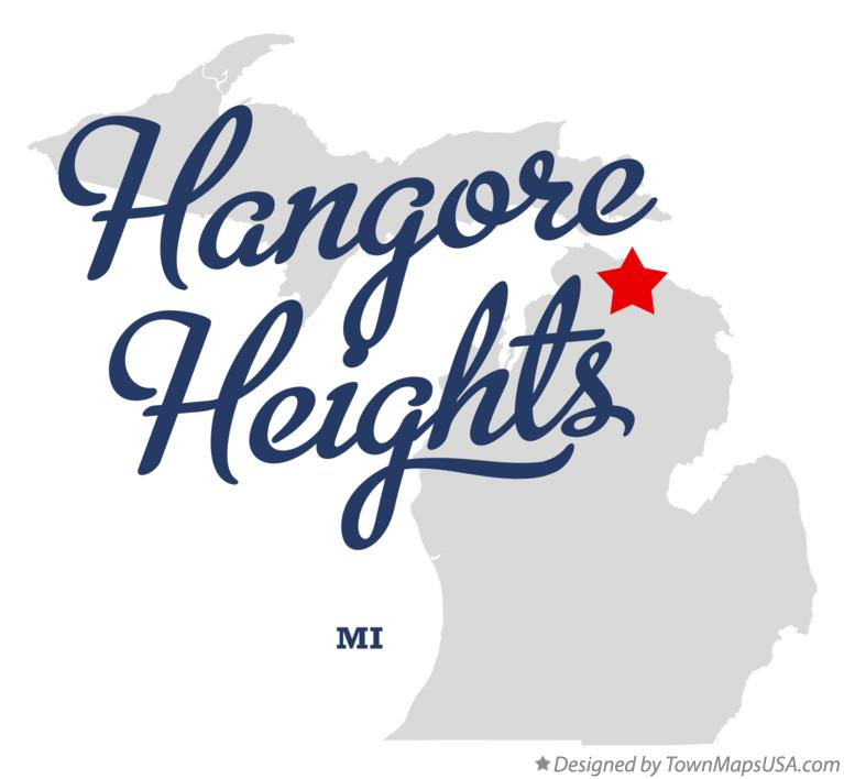 Map of Hangore Heights Michigan MI