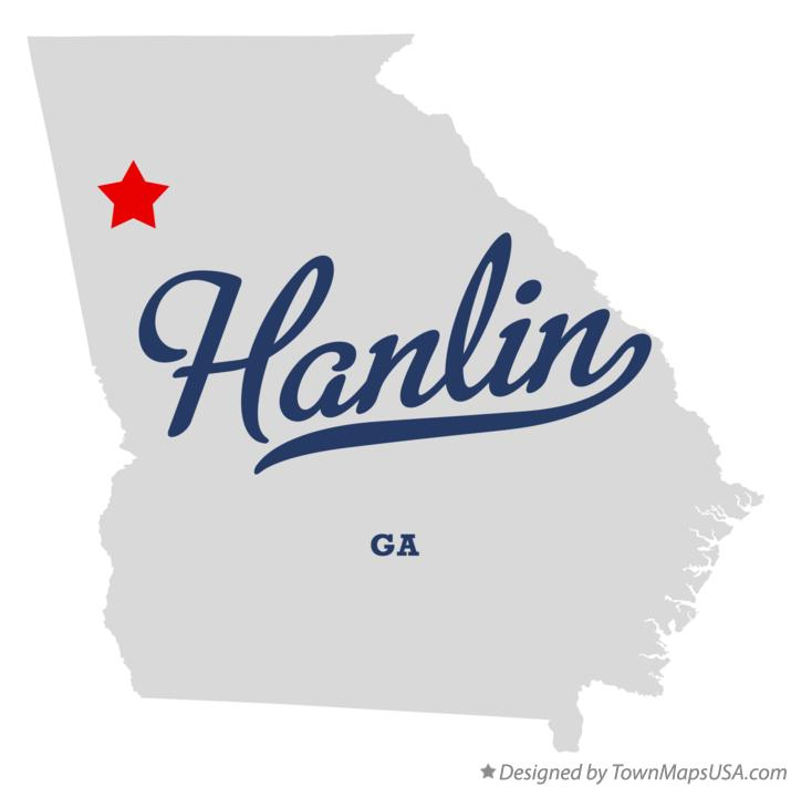 Map of Hanlin Georgia GA