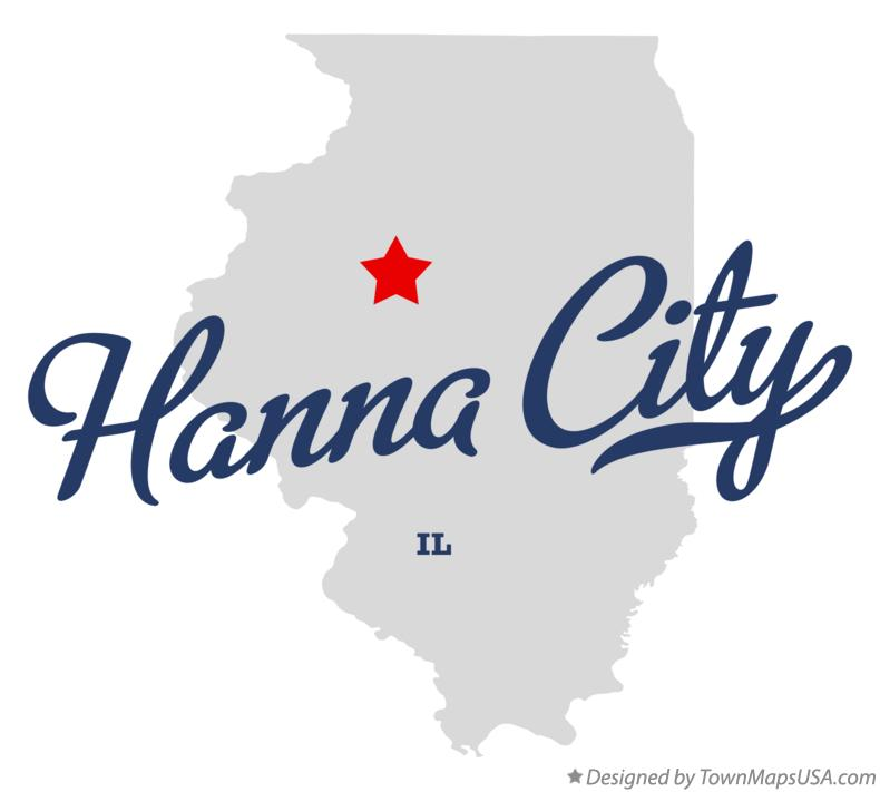 Map of Hanna City Illinois IL