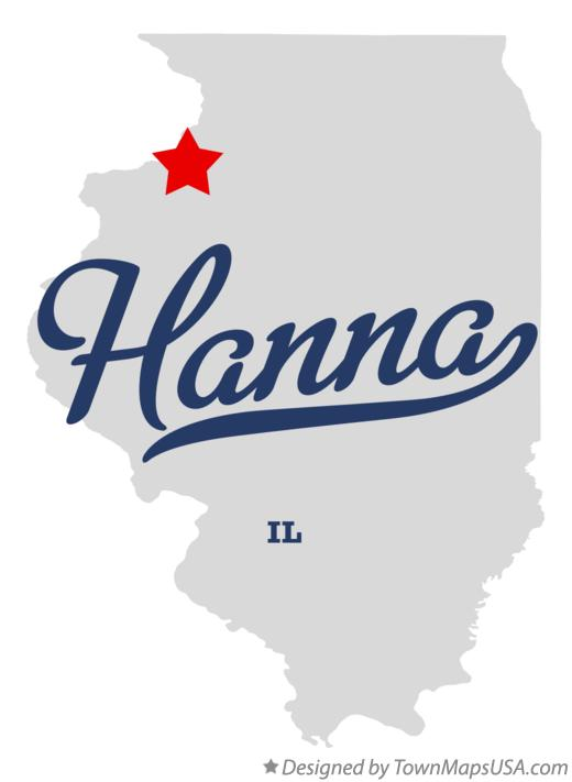 Map of Hanna Illinois IL