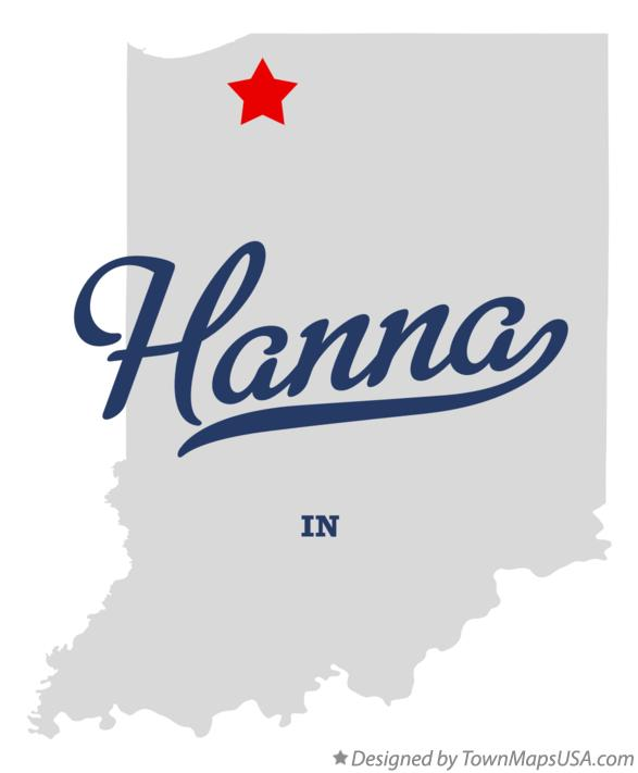 Map of Hanna Indiana IN
