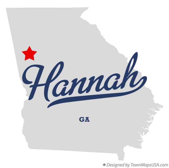 Map of Hannah Georgia GA