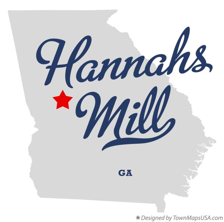 Map of Hannahs Mill Georgia GA