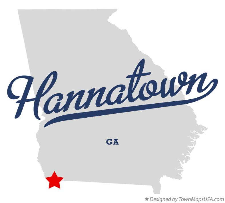 Map of Hannatown Georgia GA