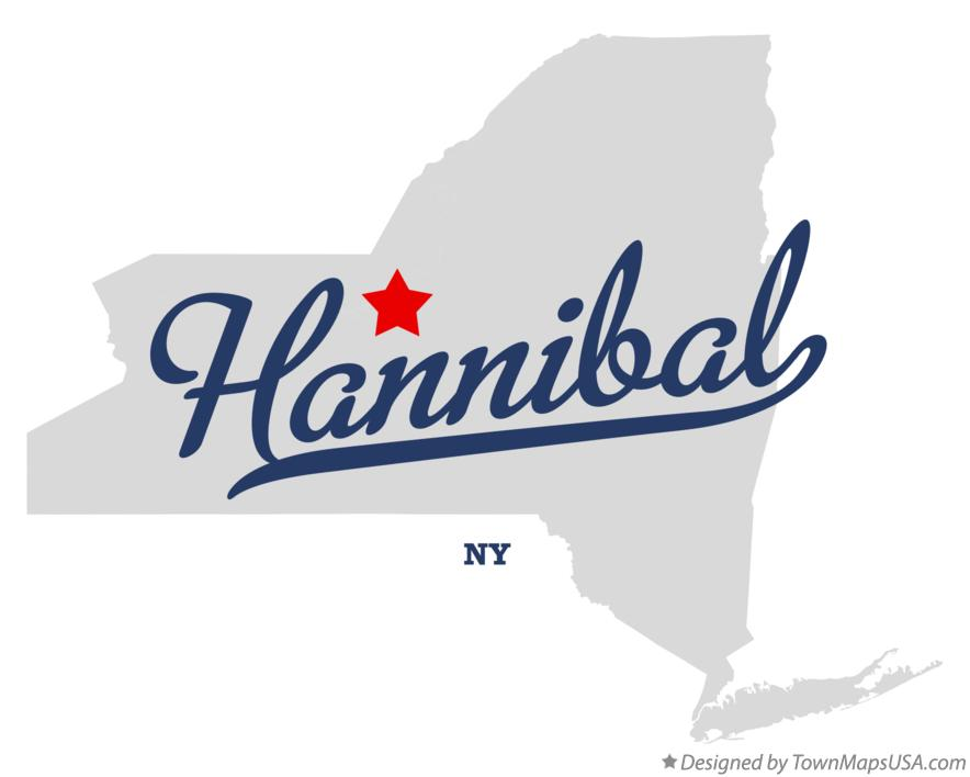 Map of Hannibal New York NY