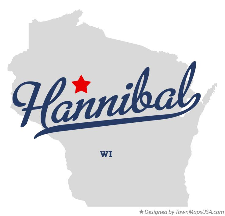 Map of Hannibal Wisconsin WI
