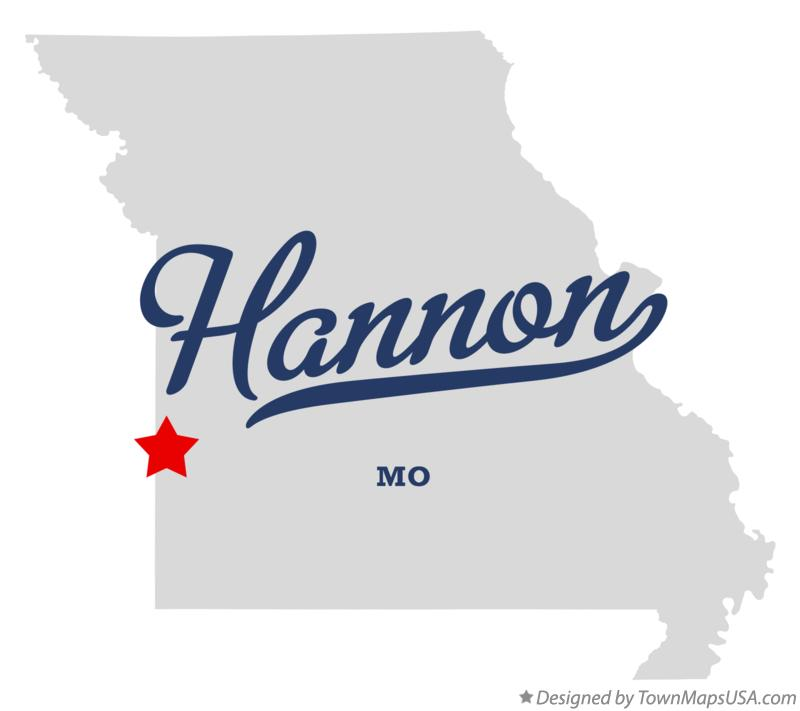 Map of Hannon Missouri MO