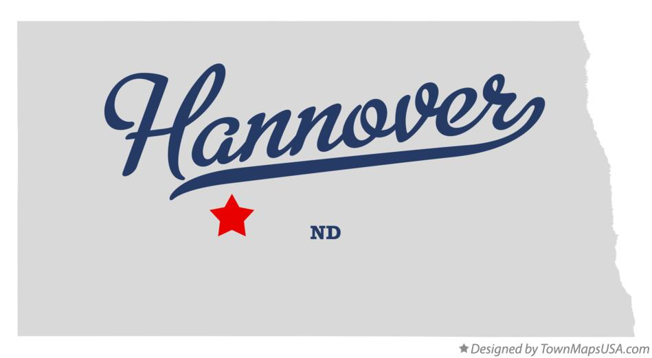 Map of Hannover North Dakota ND