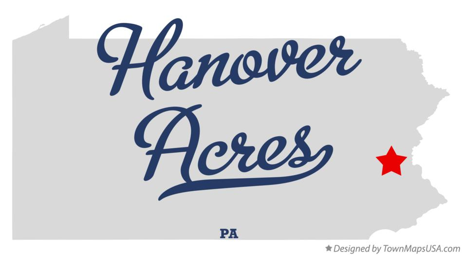 Map of Hanover Acres Pennsylvania PA