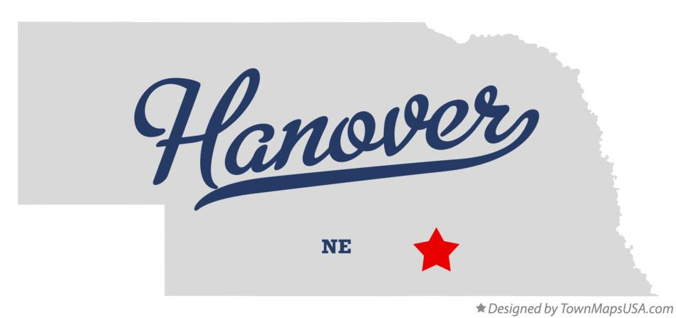 Map of Hanover Nebraska NE