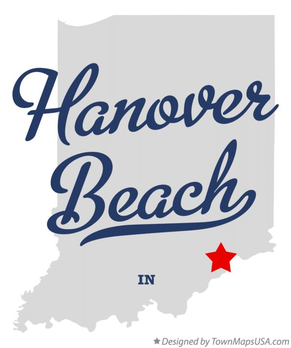 Map of Hanover Beach Indiana IN