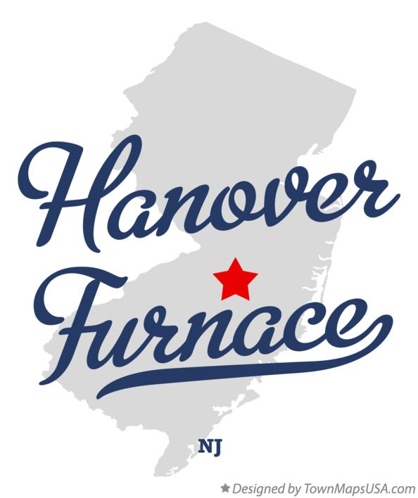 Map of Hanover Furnace New Jersey NJ