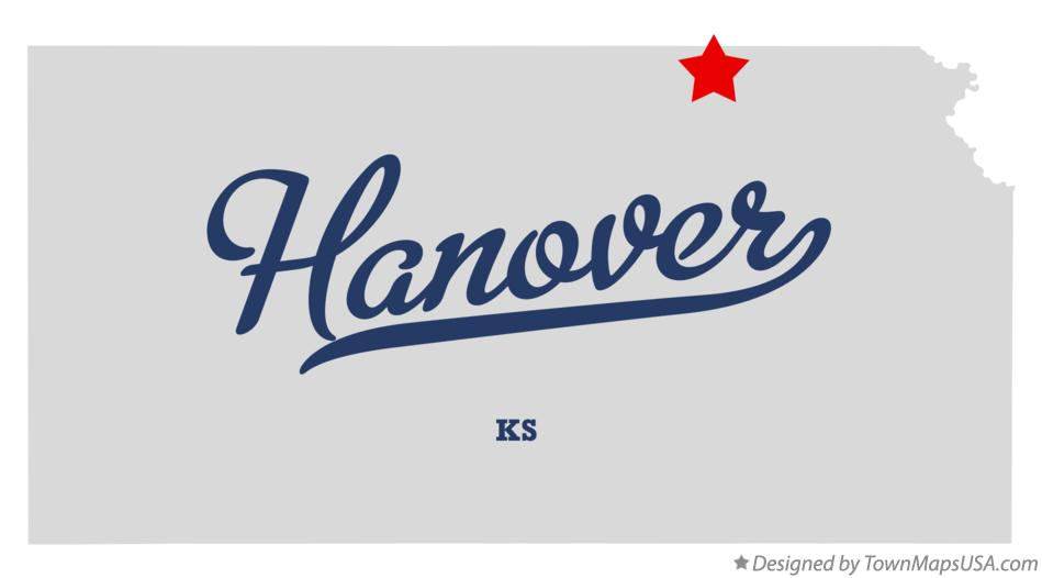 Map of Hanover Kansas KS