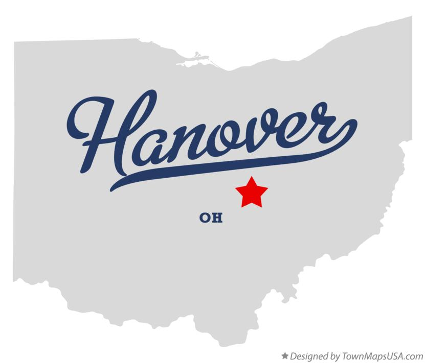 Map of Hanover Ohio OH
