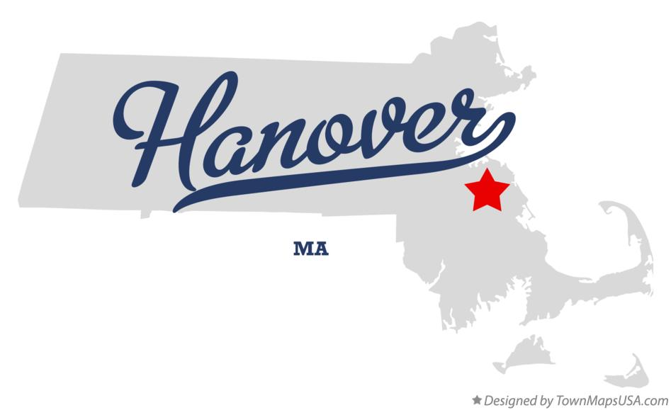 Map of Hanover Massachusetts MA