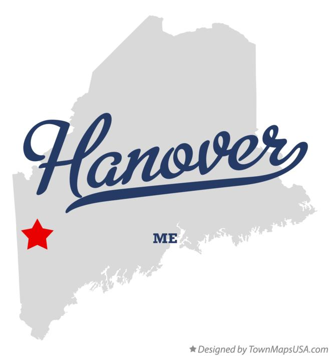 Map of Hanover Maine ME