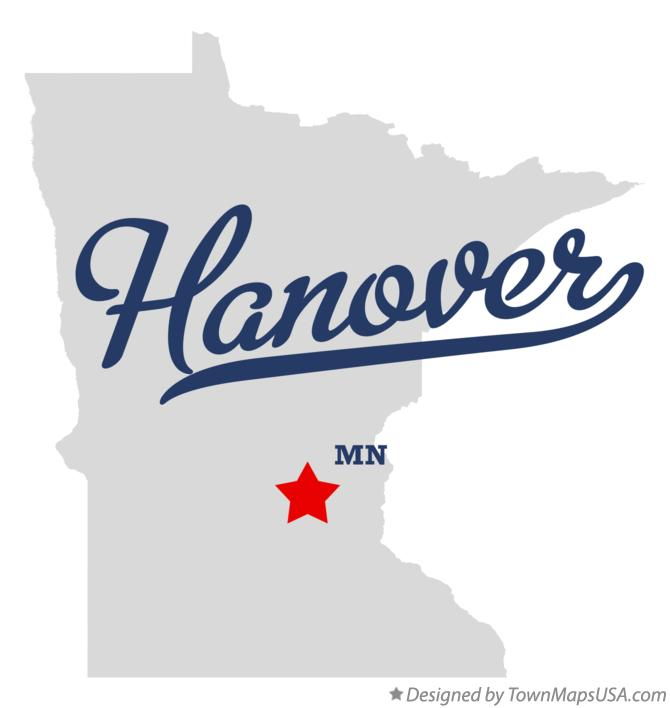 Map of Hanover Minnesota MN