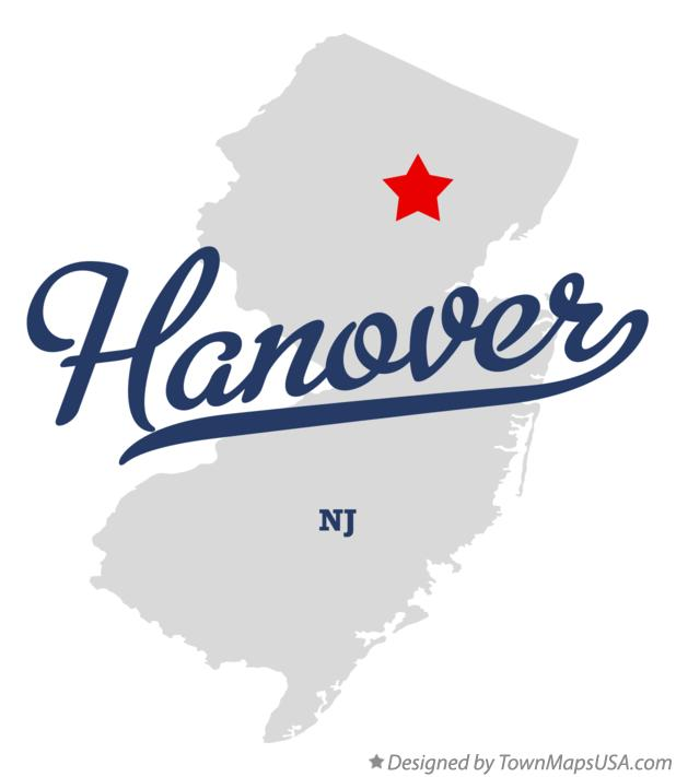 Map of Hanover New Jersey NJ