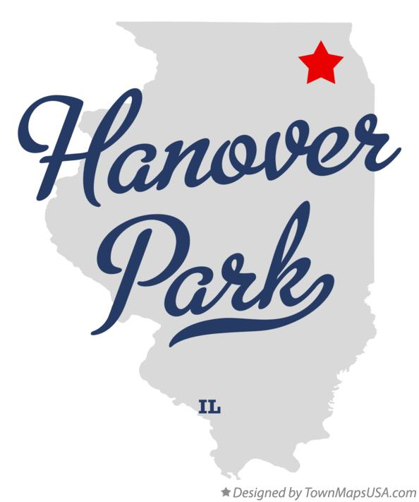 Map of Hanover Park Illinois IL