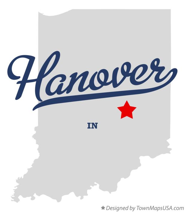 Map of Hanover Indiana IN