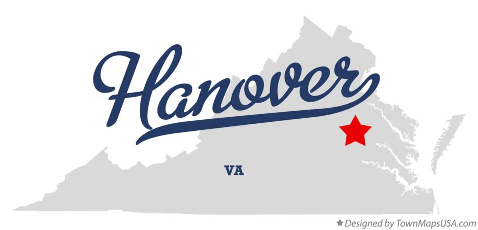 Map of Hanover Virginia VA