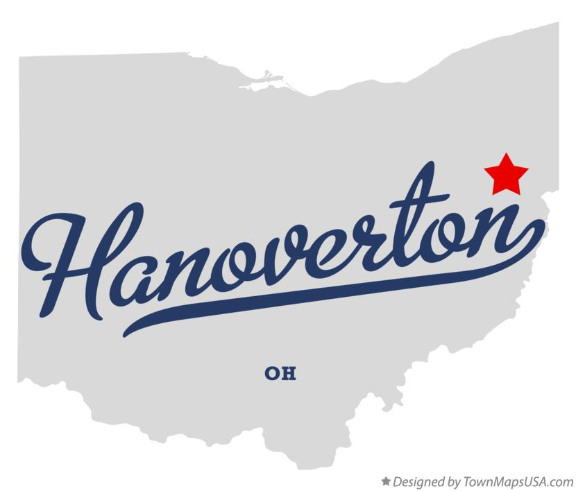 Map of Hanoverton Ohio OH