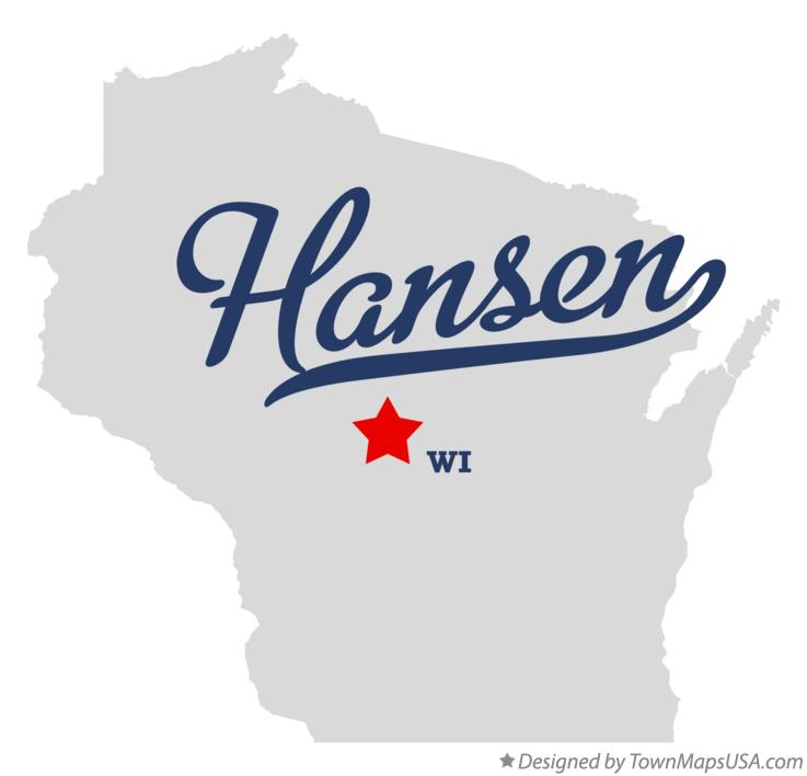 Map of Hansen Wisconsin WI