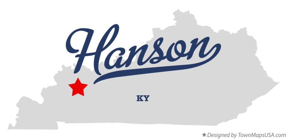 Map of Hanson Kentucky KY