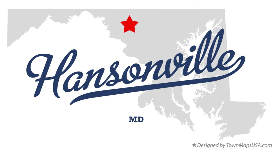 Map of Hansonville Maryland MD