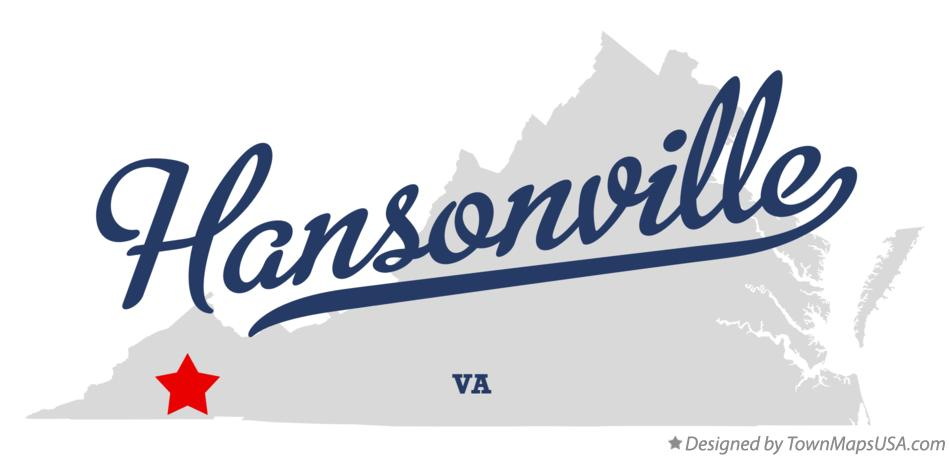 Map of Hansonville Virginia VA