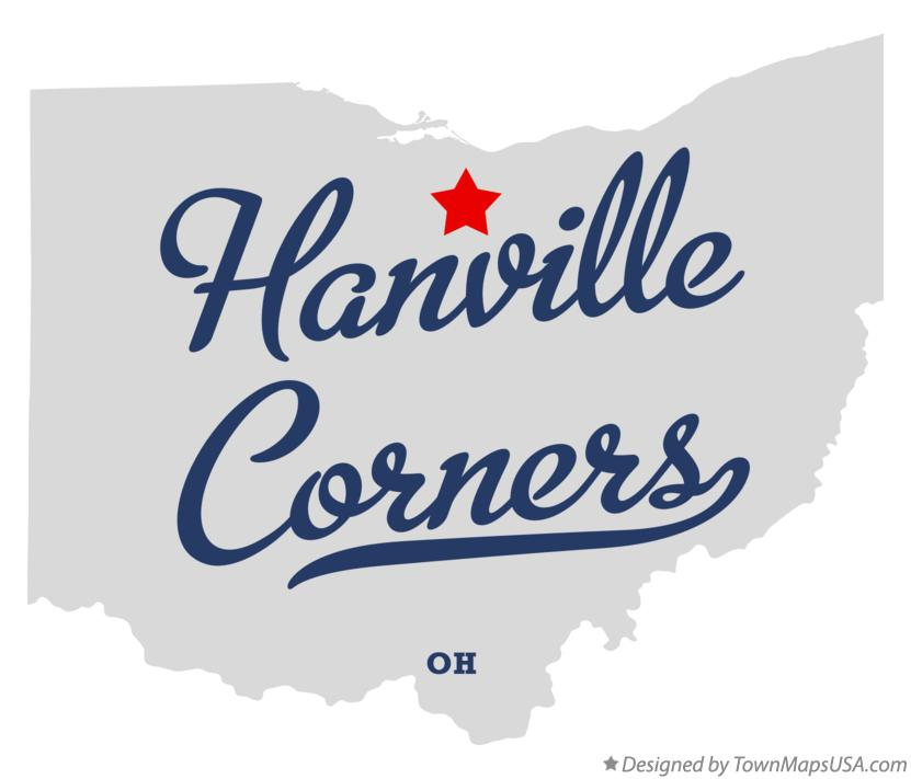 Map of Hanville Corners Ohio OH