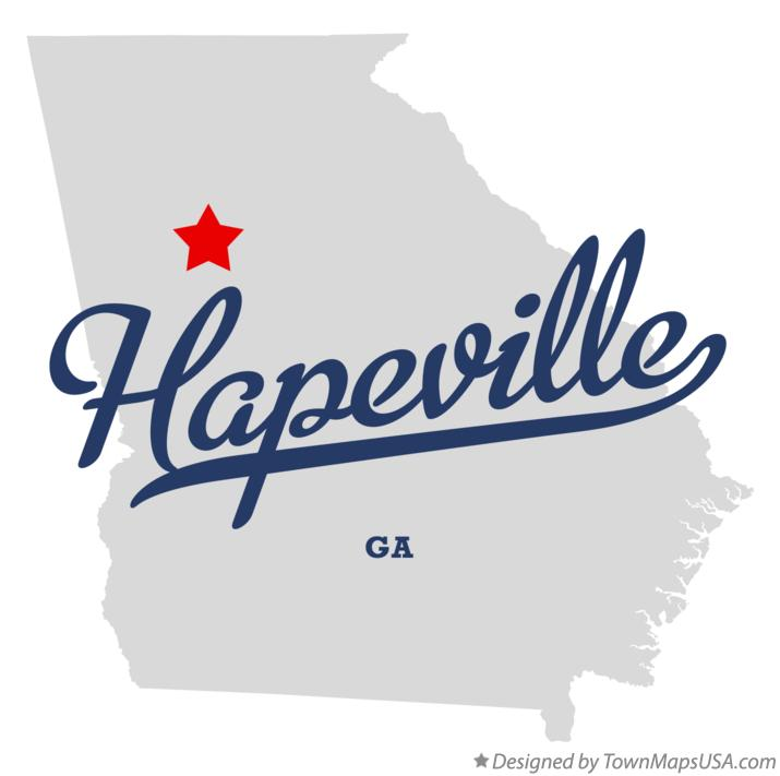 Austell Georgia Map Map of Hapeville Georgia ga