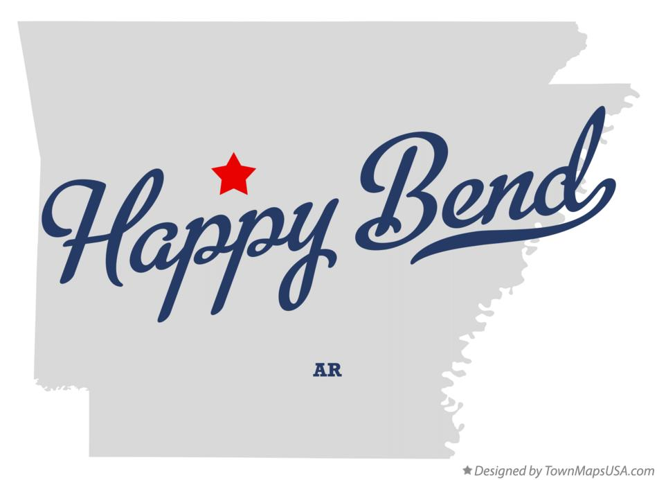 Map of Happy Bend Arkansas AR