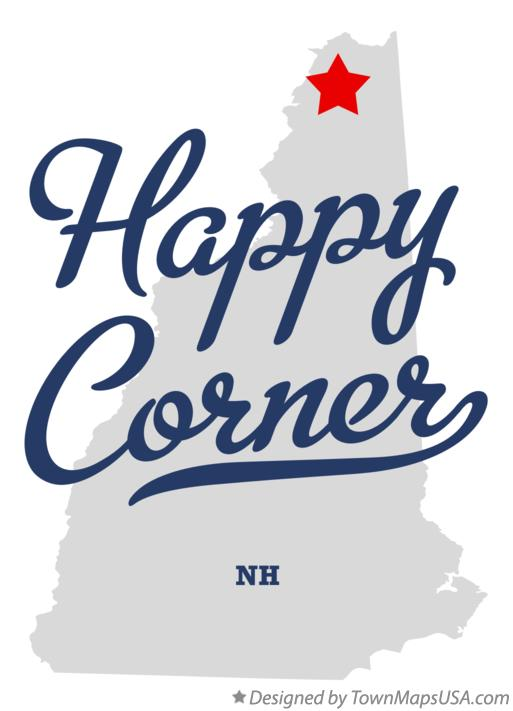 Map of Happy Corner New Hampshire NH