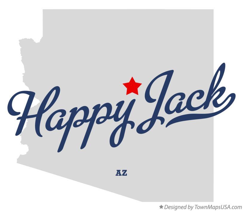 Happy Jack Arizona Map.Map Of Happy Jack Az Arizona