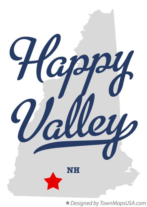 Map of Happy Valley New Hampshire NH