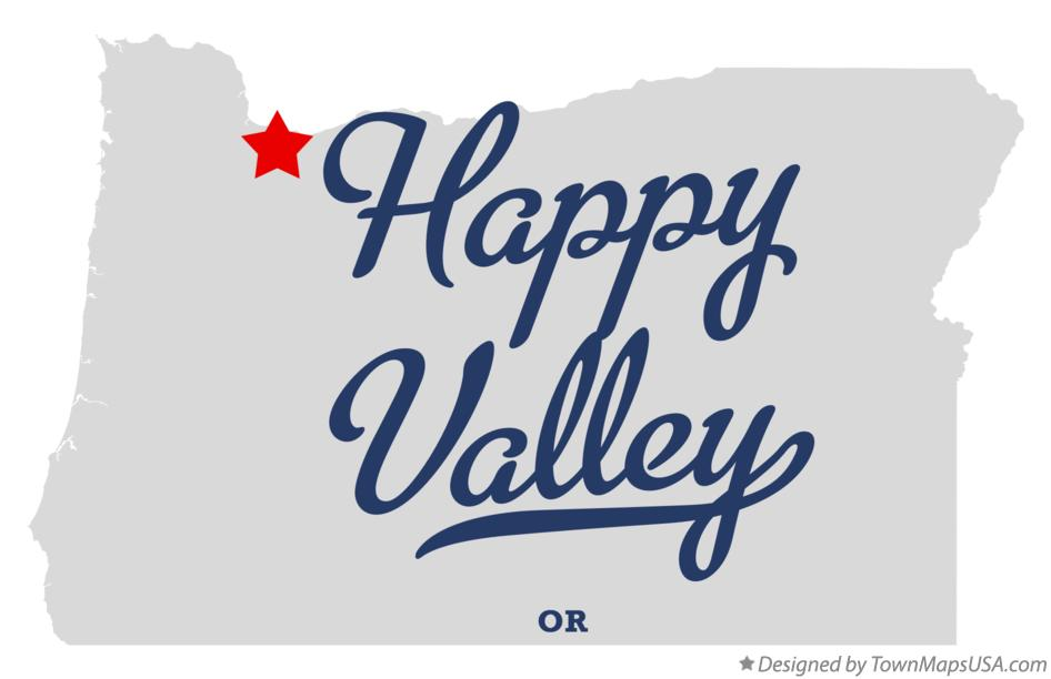Map of Happy Valley Oregon OR