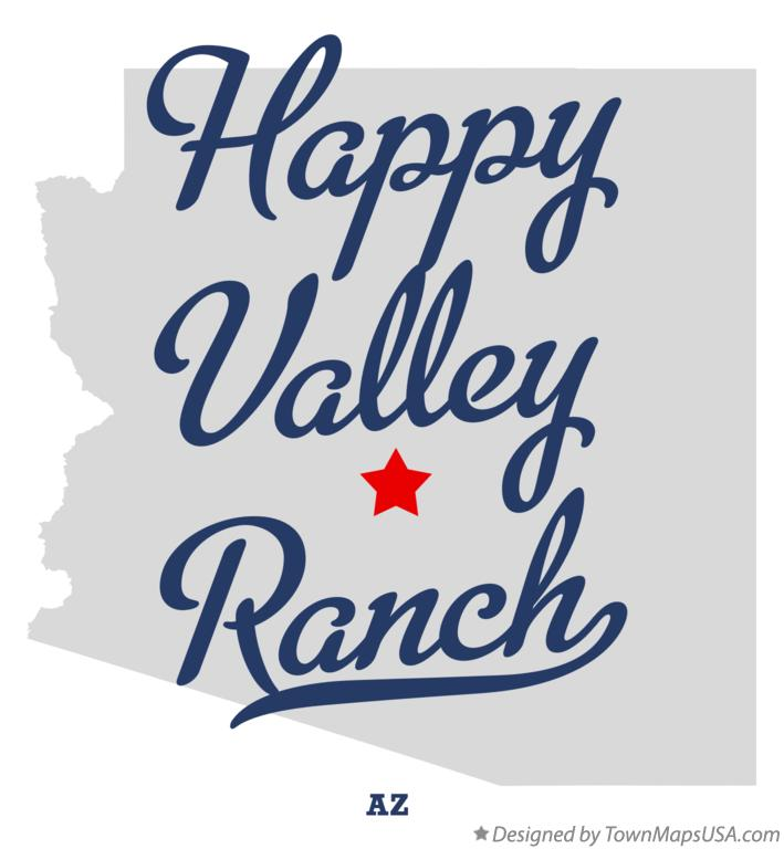 Map of Happy Valley Ranch Arizona AZ