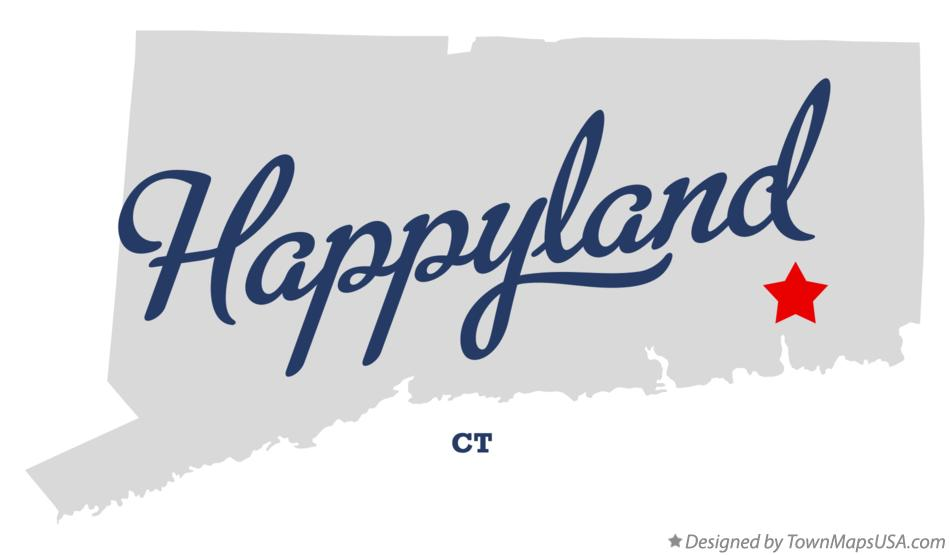 Map of Happyland Connecticut CT