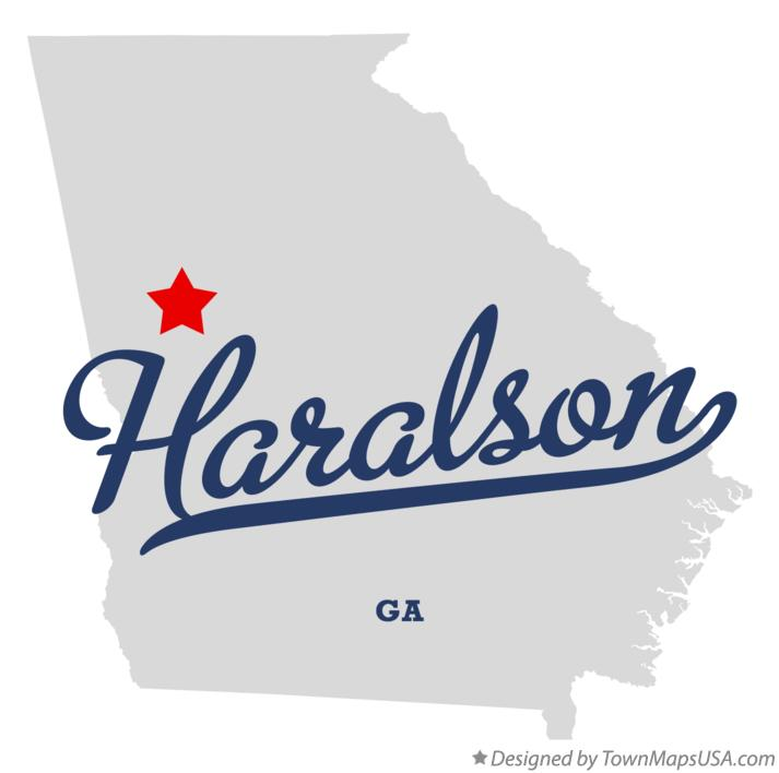 Map of Haralson Georgia GA