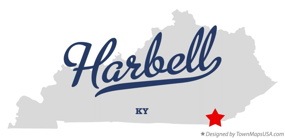 Map of Harbell Kentucky KY