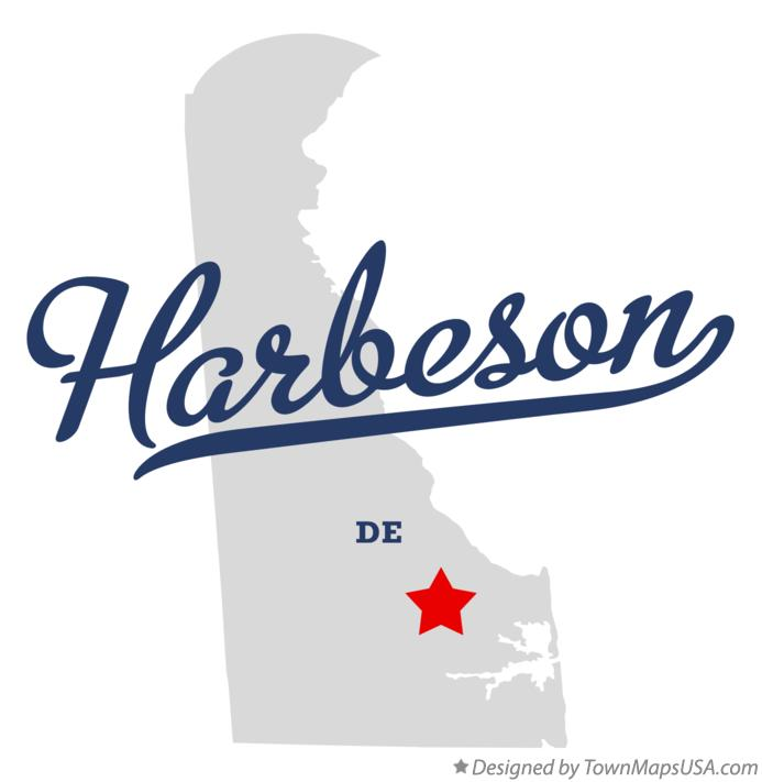 Map of Harbeson Delaware DE