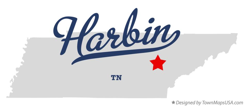 Map of Harbin Tennessee TN