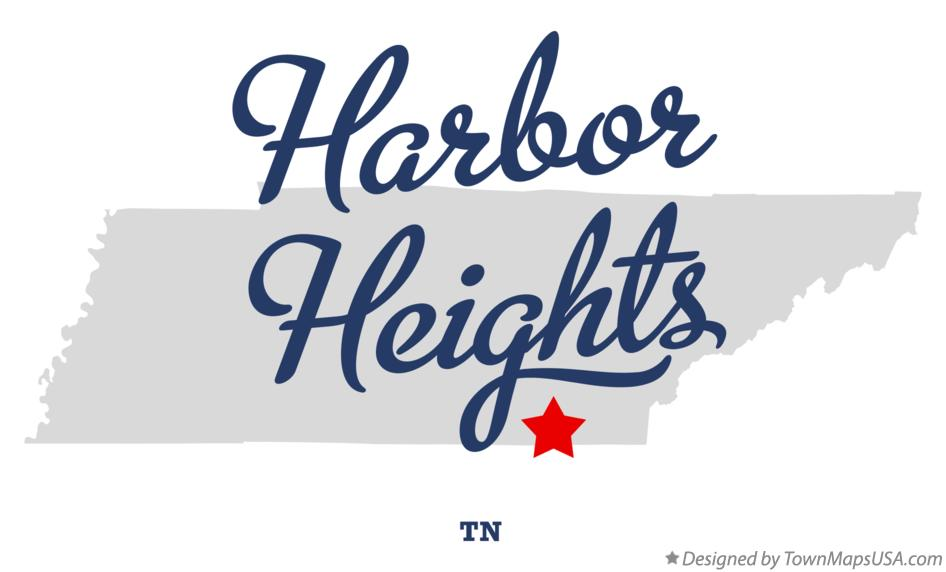 Map of Harbor Heights Tennessee TN