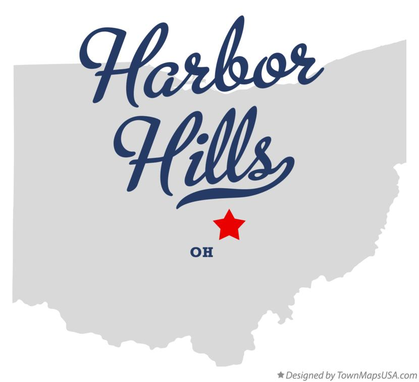 Map of Harbor Hills Ohio OH