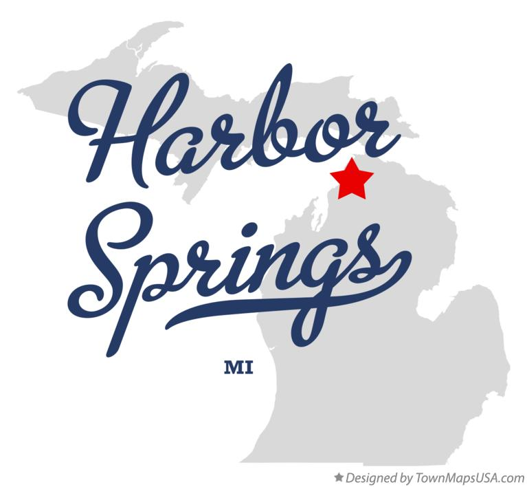 Map of Harbor Springs Michigan MI