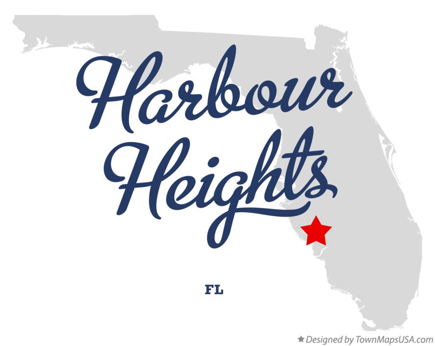 Map of Harbour Heights Florida FL
