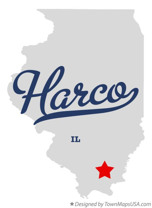 Map of Harco Illinois IL