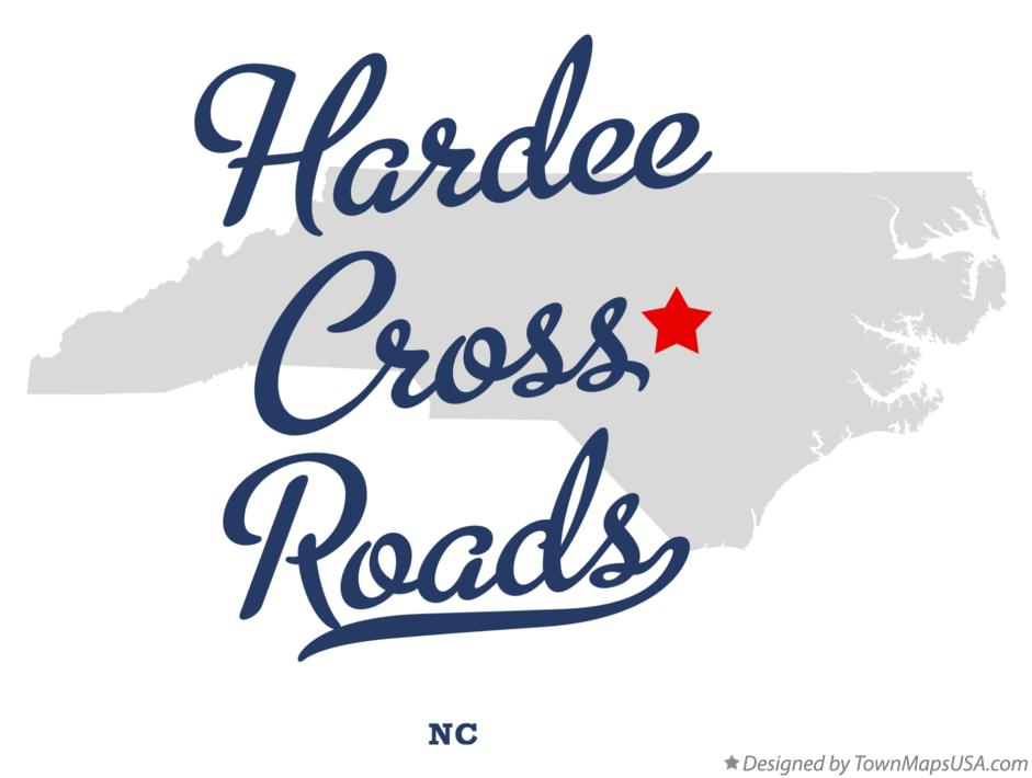 Map of Hardee Cross Roads North Carolina NC